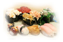Assorted sushi at Tomokazu Japanese Restaurant