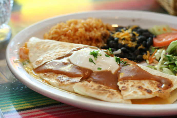 Seafood Quesadilla ($14.95) from Andales Mexican and Spanish restaurant in Kitsilano, Vancouver BC Canada.