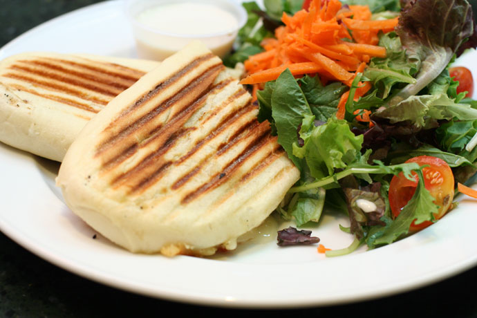Chicken and Brie Cheese Panini (The Parisian Panini) from Beatty Street Bar and Grill in Vancouver. ($11.99 before tax and tip.)