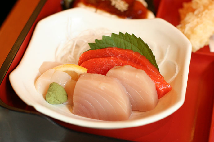 Japanese sashimi lunch box