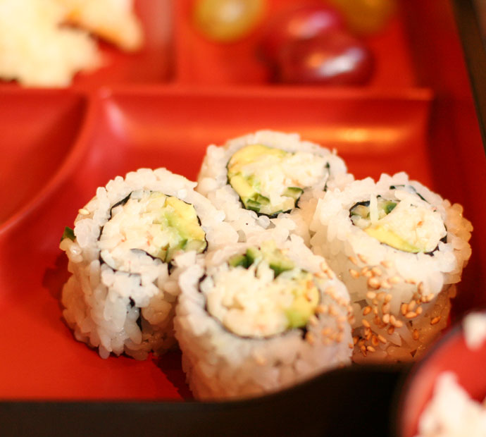 California roll Japanese sushi