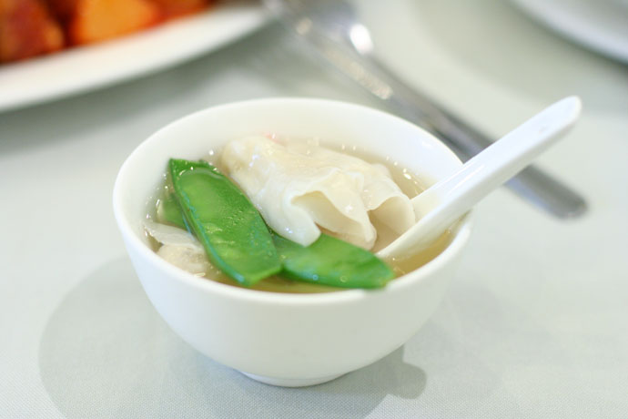 Vegetarian Won-ton Soup at Bo Kong restaurant