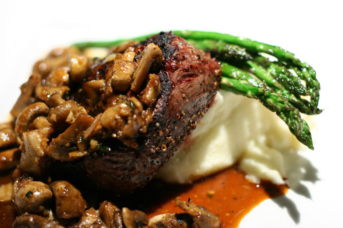 Sirloin steak at Cactus Club (with mushrooms)