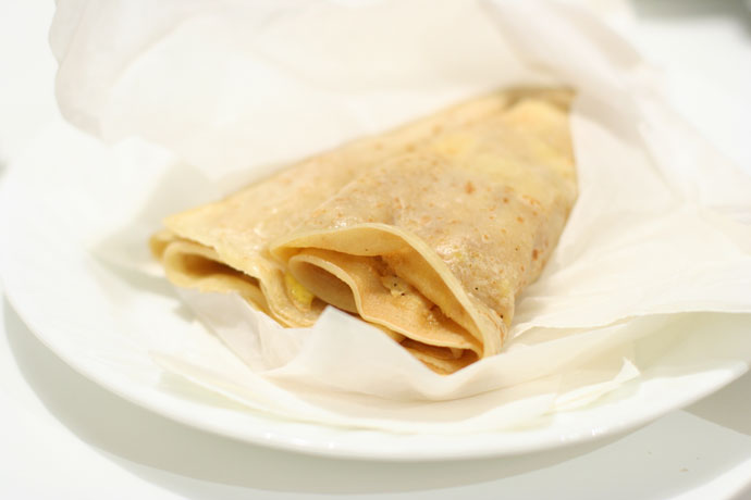 Another photo of the crepe from Cafe Crepe restaurant in Vancouver, BC, Canada.