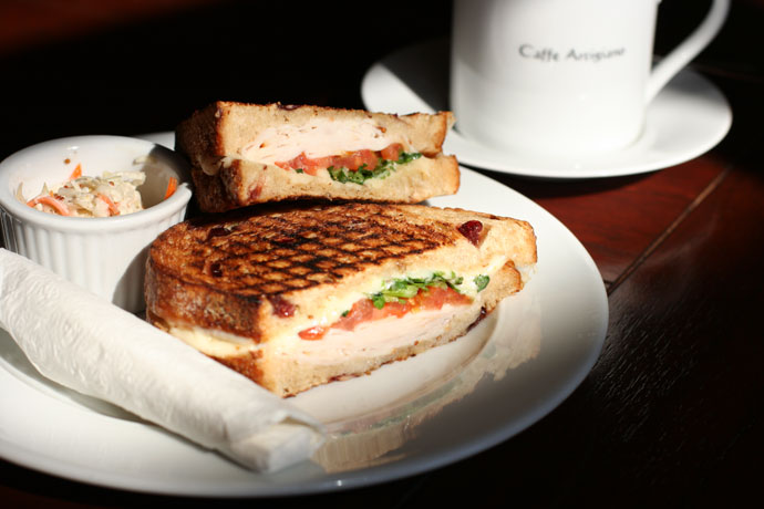 Smoked Turkey Panino ($8.49) and Tall Caffe Americano ($2.45) from Caffe Artigiano in Burnaby.
