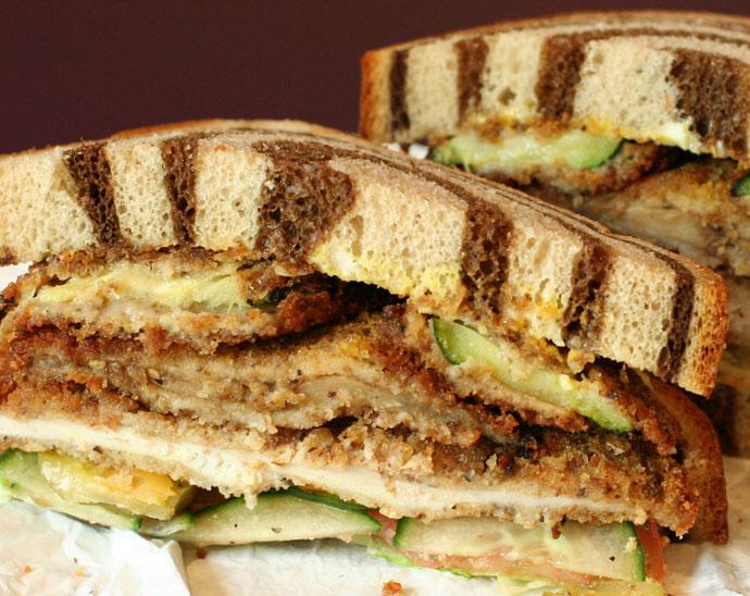 Deluxe Schnitzel Sandwich