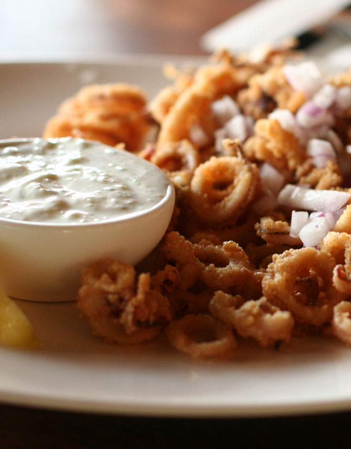 Calamari appetizer ($10) at Earl's restaurant on Broadway at Fir