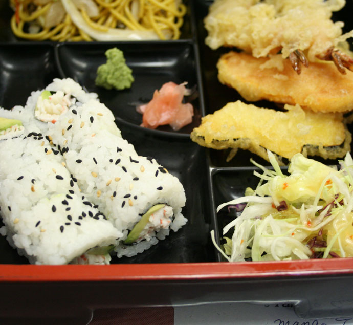 Sushi combination box