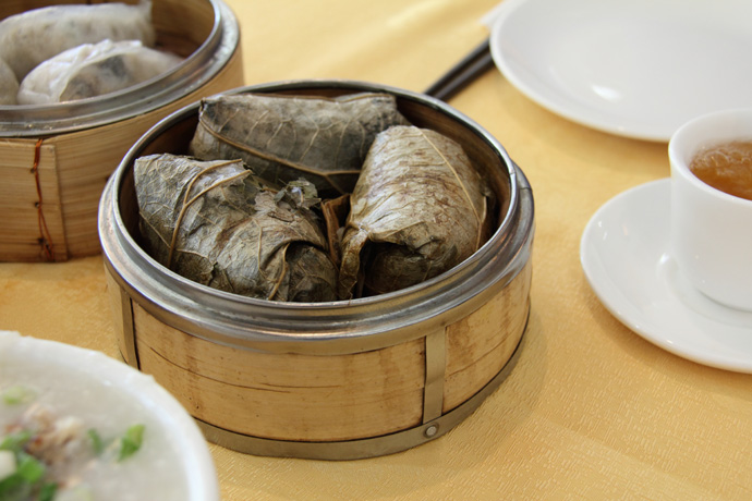 Chinese dim sum Sticky Rice from Fraser Court  Seafood restaurant in Vancouver BC Canada.