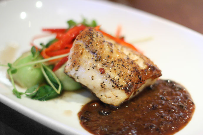Ling Cod seafood at Goldfish Pacific Kitchen