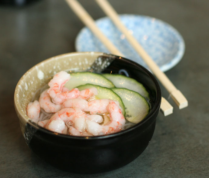 Ebi Sunomono Salad - with shrimp, $3.50
