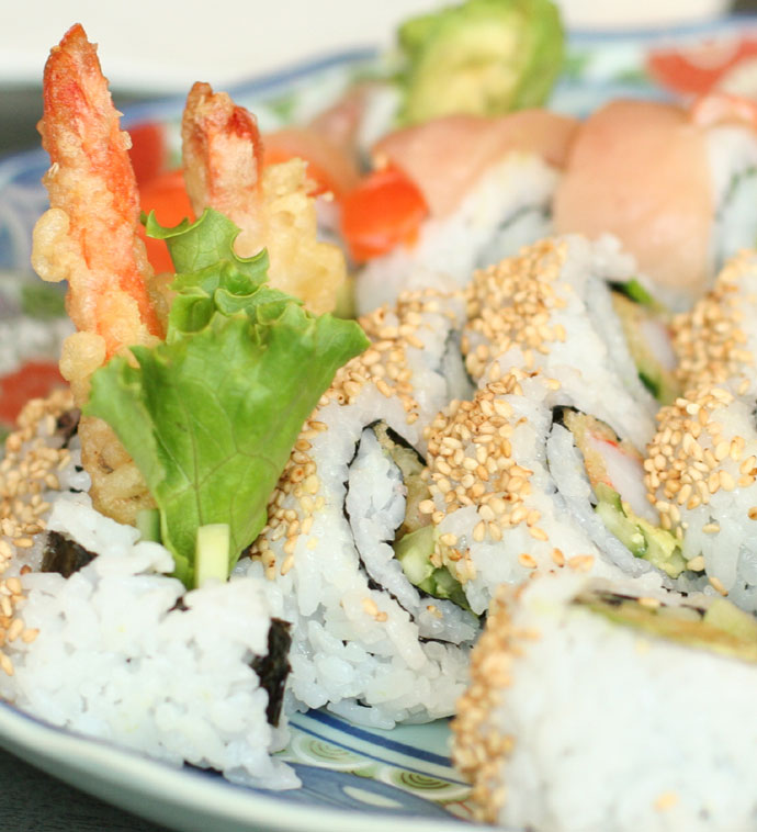 Dynamite Roll (shrimp tempura) - $4.25