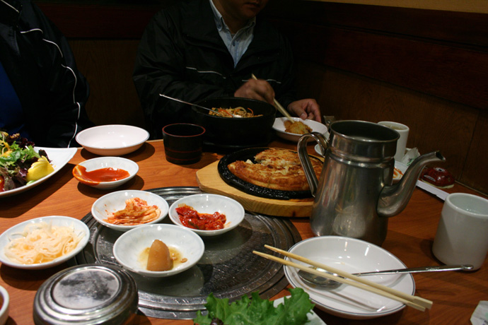 Korean food from Insadong Korean Restaurant in Coquitlam BC Canada.