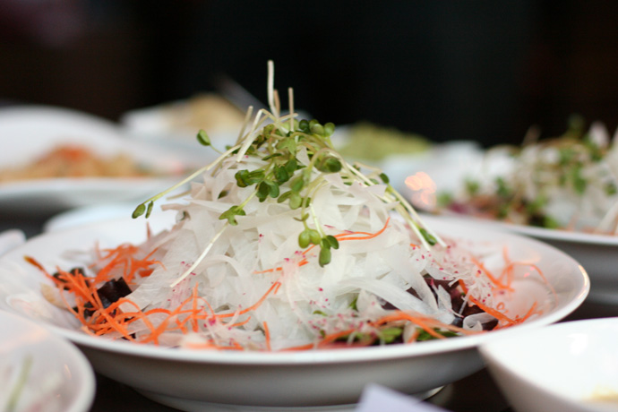 Daikon (Japanese radish) salad - a nice appetizer from Irashai Grill in Vancouver.
