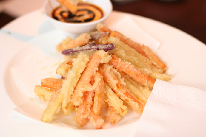 Yam Tempura Fries (yummy!) from Irashai Grill in Vancouver