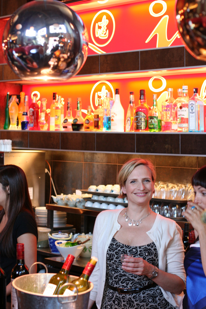 The fancy bar at Irashai Grill.