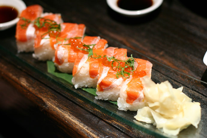 Salmon Sushi ($8.80) from Kingyo in Vancouver