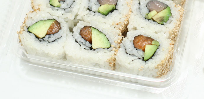 Fresh Japanese maki sushi
