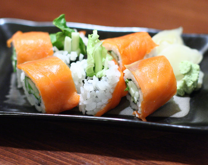 Smoked Salmon Roll Sushi (Delicious!!) - $4.25