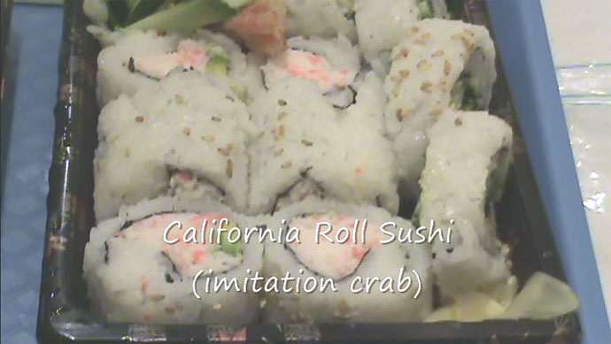 California Roll from Pacific Centre food court in Vancouver, BC, Canada.
