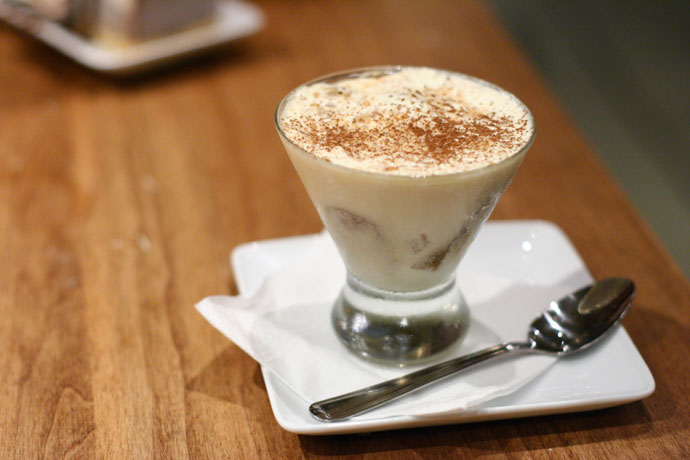 Tiramisu dessert ($7.00) from Pacifico Pizza Restaurant in downtown Vancouver BC Canada.