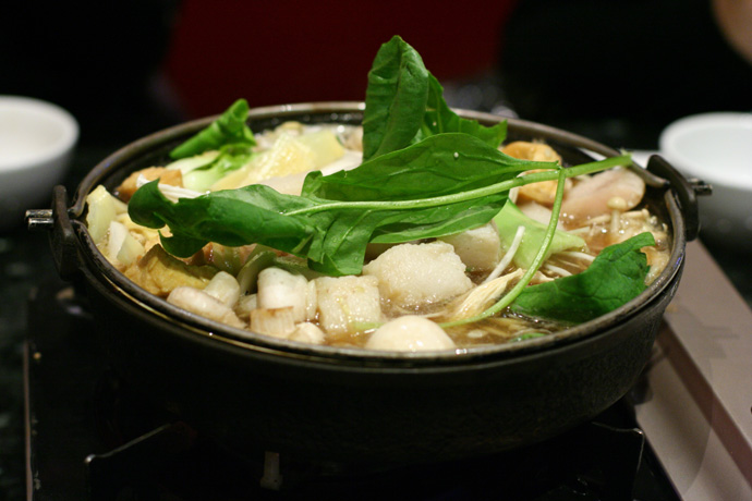 Everything cooking away at Posh Japanese Hot Pot restaurant in Vancouver.