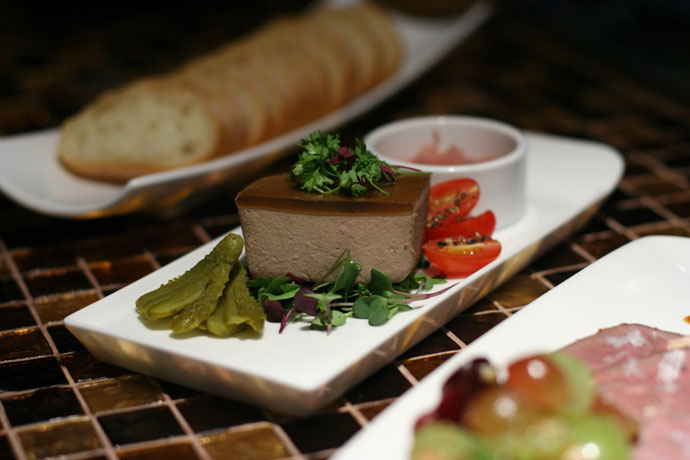 Duck Liver Pâté and baguette