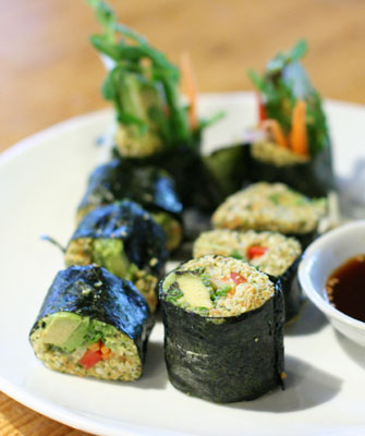 Raw Nori rolls at Radha restaurant ($7.00)