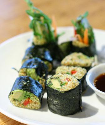 Raw Nori rolls at Radha restaurant ($7.00)