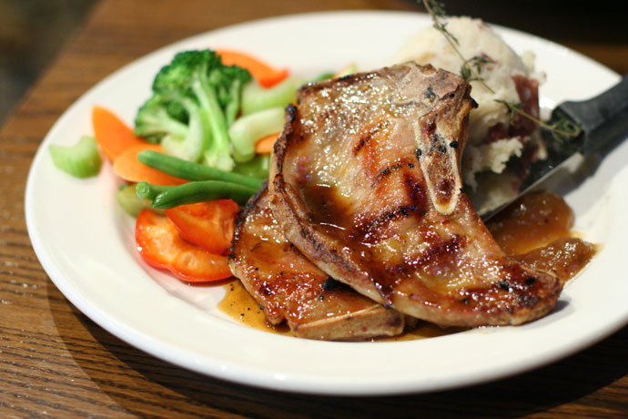 Honey glazed pork chops