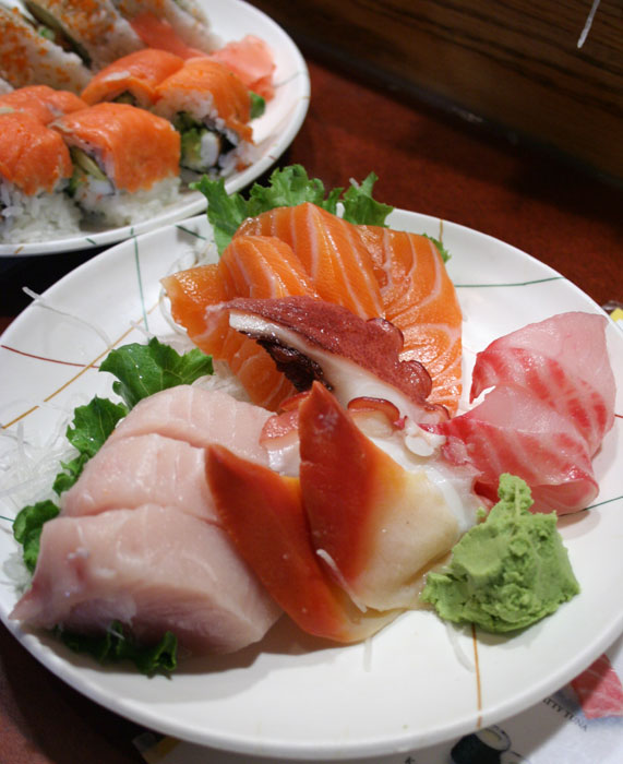 Assorted Japanese Sashimi and sushi