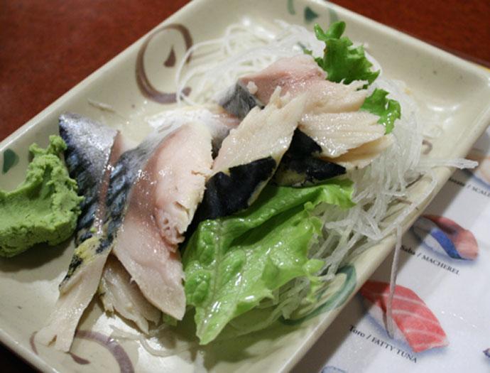 Saba sashimi
