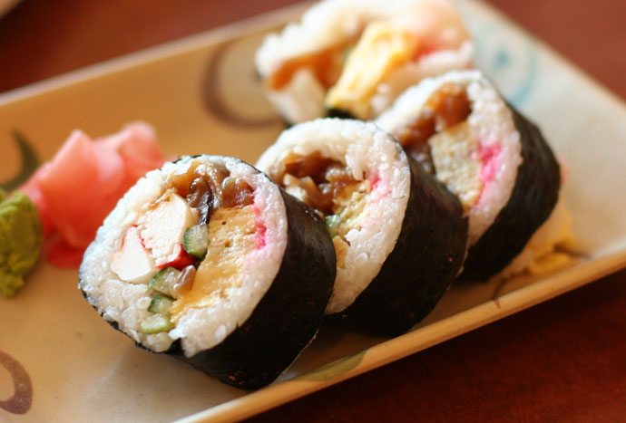 1/2 order of Futomaki Sushi ($4.25) from Samurai Japanese Restaurant