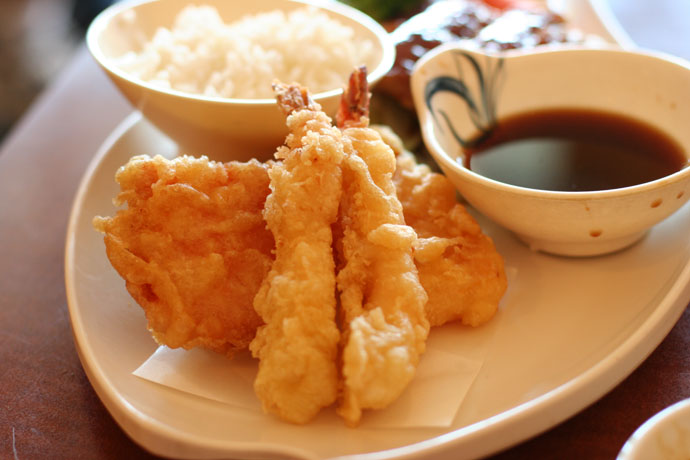 Tempura (part of Combo C from Samurai Japanese restaurant)