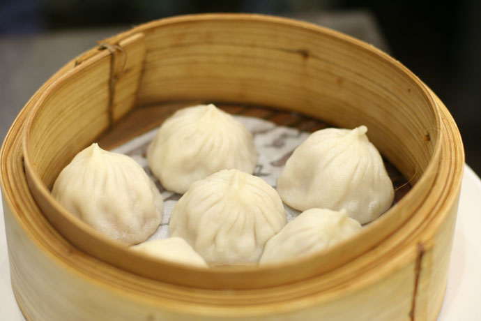 Shanghai Style Juicy Pork Buns ($4.95) from Shanghai Wonderful restaurant in Richmond, BC, Canada.
