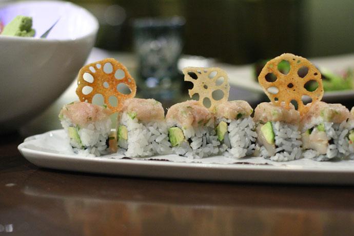 Roulette Roll ($12) from Shuraku Japanese Restaurant in Vancouver.