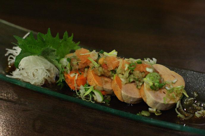 Salmon Foie Gras appetizer ($7.00) from ShuRaku Japanese Restaurant in Vancouver.