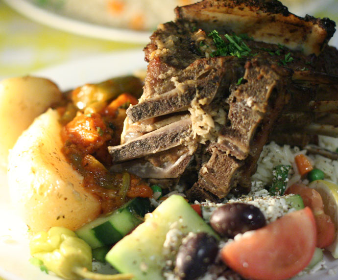 Roast Lamb served at Stephos Greek Restaurant