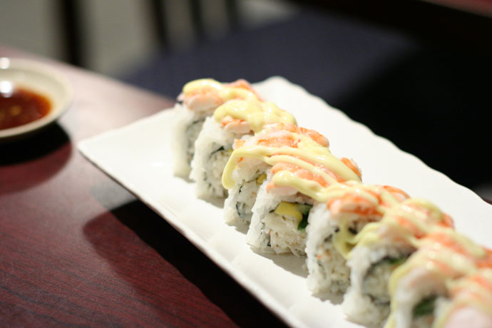 Mangodise Sushi Rolls at Sushi Town in Burnaby ($6.95)