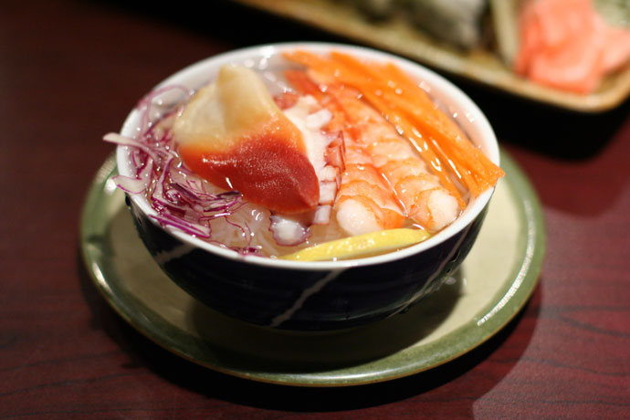 Seafood Sunomono salad ($3.75) from Sushi Town Japanese Restaurant in Burnaby BC Canada.