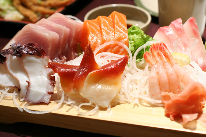 Assorted Sashimi from Sushi Town ($13.95) in Burnaby, BC, Canada.