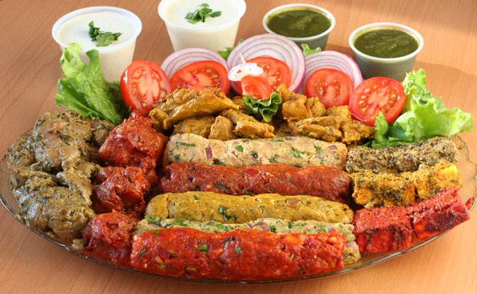 Kababs from Tandoori Delight Foods