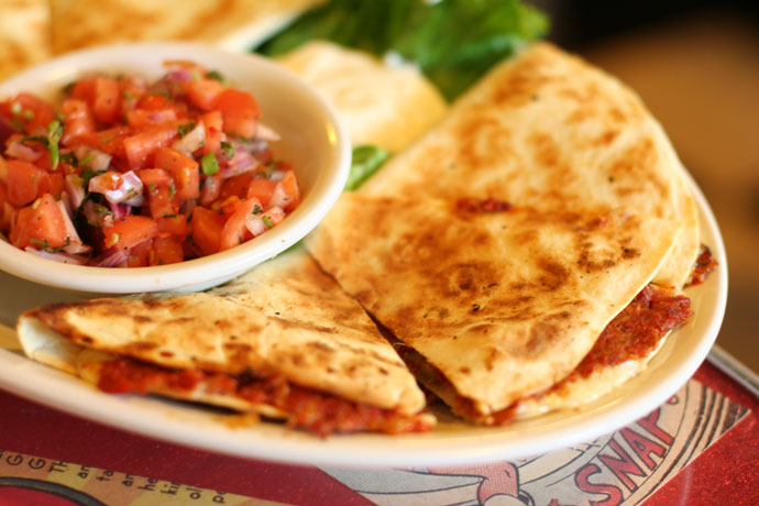 Med Quesadilla ($11) from the Templeton restaurant in Vancouver