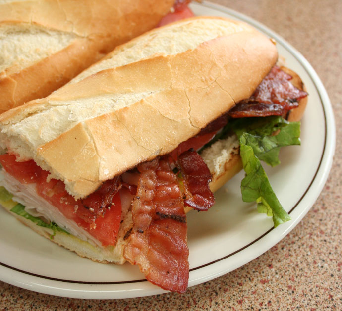Turkey Bacon Club Sandwich at Tim Hortons