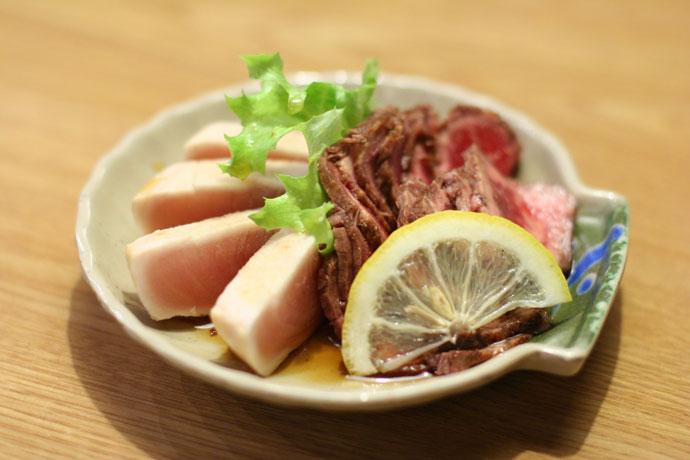 Tuna Tataki and Beef Tataki