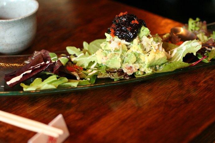 Crab Avocado salad ($8.80) from Toratatsu Japanese Tapas restaurant in the West End of Vancouver (Denman).