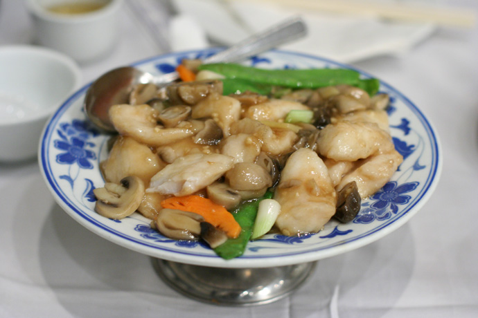 Sauteed Rock Cod Fillets ($14.50) from Tsui Hang Village Chinese Restaurant on Granville Street, Vancouver, BC, Canada.