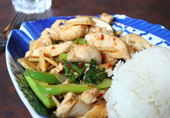 Vancouver Thai food: Chicken with Bamboo Shoots