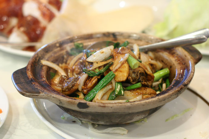 Oysters with Ginger and Green Onion ($15.80) from Western Lake Chinese Seafood Restaurant in Vancouver.