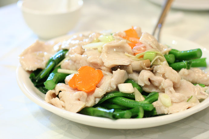Chicken with Gai-Lan (Chinese Brocolli) from Western Lake Restaurant in Vancouver ($12.80)